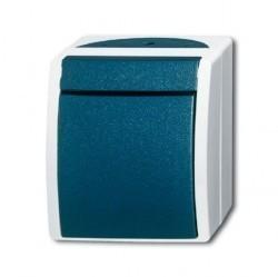 Переключатель 1-клавишный ABB OCEAN, открытый монтаж, Серый/сине-зеленый, 1085-0-1637