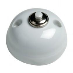 Выключатель 1-клавишный кнопочный Fontini GARBY, открытый монтаж, белый, 30310172