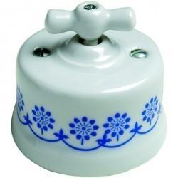 Светорегулятор поворотный Fontini GARBY, 500 Вт, белый/синий, 30333112