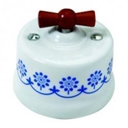 Светорегулятор поворотный Fontini GARBY, 500 Вт, белый/синий, 30333122
