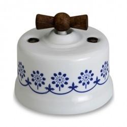 Светорегулятор поворотный Fontini GARBY, 500 Вт, белый/синий, 30333232