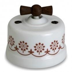 Светорегулятор поворотный Fontini GARBY, 500 Вт, белый/коричневывй, 30333242