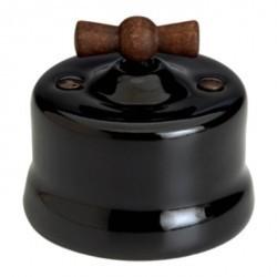 Светорегулятор поворотный Fontini GARBY, 500 Вт, черный, 30333292
