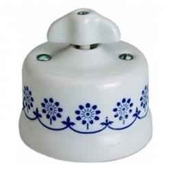 Светорегулятор поворотный Fontini GARBY, 500 Вт, белый/синий, 30333312