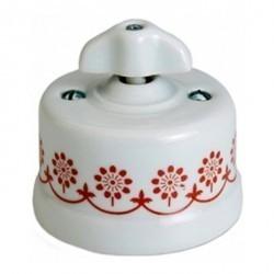 Светорегулятор поворотный Fontini GARBY, 500 Вт, белый/коричневывй, 30333322