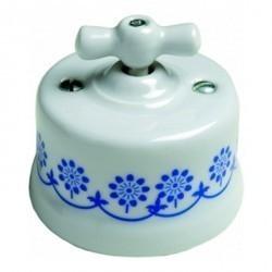 Светорегулятор поворотный Fontini GARBY, 900 Вт, белый/синий, 30334112