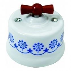 Светорегулятор поворотный Fontini GARBY, 900 Вт, белый/синий, 30334122
