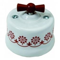 Светорегулятор поворотный Fontini GARBY, 900 Вт, белый/коричневывй, 30334142