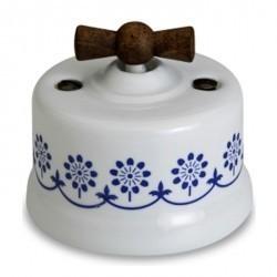 Светорегулятор поворотный Fontini GARBY, 900 Вт, белый/синий, 30334232