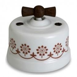 Светорегулятор поворотный Fontini GARBY, 900 Вт, белый/коричневывй, 30334242