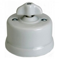 Светорегулятор поворотный Fontini GARBY, 900 Вт, белый, 30334302