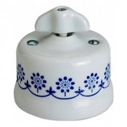 Светорегулятор поворотный Fontini GARBY, 900 Вт, белый/синий, 30334312