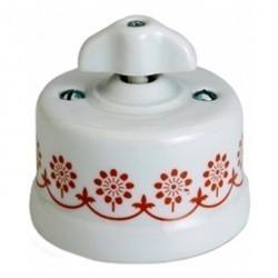 Светорегулятор поворотный Fontini GARBY, 900 Вт, белый/коричневывй, 30334322