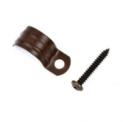 30720032Garby Клипса фиксации д/труб d=20 мм , коричневый(упак.25шт)