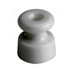 30913050Garby/Dimbler Изолятор ø19x20 mm, белый, пластик (упак. 25шт)