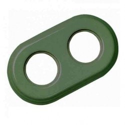 Рамка 2 поста Fontini GARBY COLONIAL, зеленый, 31802332