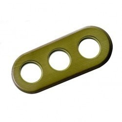 Рамка 3 поста Fontini GARBY C., зеленый, 31803332