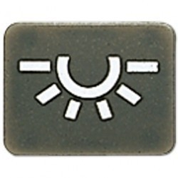 Символ для кнопки освещение; антрацит