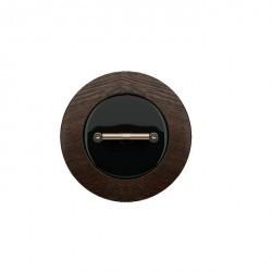 Накладка на поворотный выключатель Fontini DO, черный фарфор, 34968012