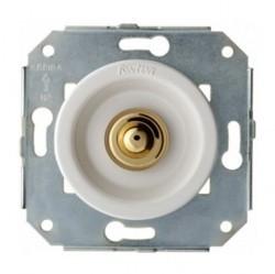Выключатель 1-клавишный кнопочный Fontini VENEZIA, скрытый монтаж, хром/белый, 35310262