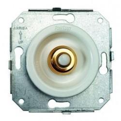 Выключатель 1-клавишный кнопочный Fontini VENEZIA, скрытый монтаж, хром/коричневый, 35310522