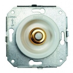 Выключатель 1-клавишный кнопочный Fontini VENEZIA, скрытый монтаж, бронза/белый, 35310592