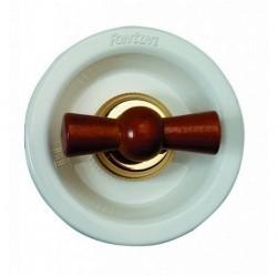 Выключатель поворотный двухполюсный Fontini VENEZIA, сапелли/белый, 35314162