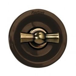 Выключатель-кнопка поворотный Fontini VENEZIA, бронза/коричневый, 35328572