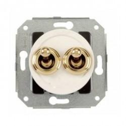 Выключатель 2-клавишный кнопочный Fontini VENEZIA, скрытый монтаж, хром/белый, 35343262