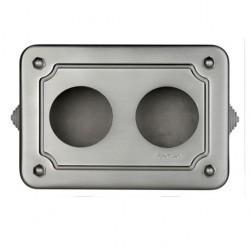 35409512Venezia Коробка распределительная для вертикальной установки 175X125X50 мм, глянцевая никелированная