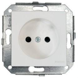 Розетка Fontini F37, скрытый монтаж, серебристый, 37209502