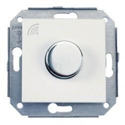 Выключатель 1-клавишный кнопочный Fontini F37, скрытый монтаж, хром/белый, 37310262