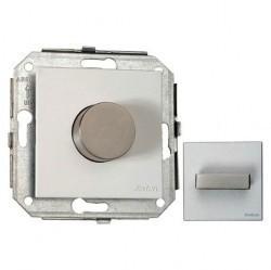 Выключатель 1-клавишный кнопочный Fontini F37, скрытый монтаж, хром/металлик, 37310612