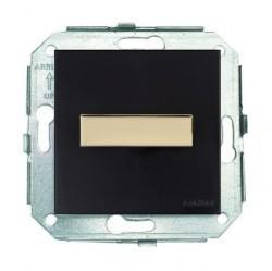 Включатель-кнопка поворотный на два направления Fontini F37, золото/коричневый, 37344542