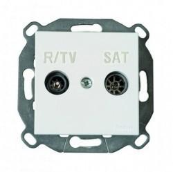 Розетка TV Fontini F37, оконечная, коричневый, 37711032