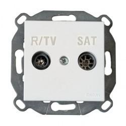 Розетка TV Fontini F37, одиночная, серебристый, 37712502