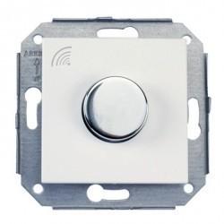 Выключатель поворотный Fontini F37, стальной/белый, 37925252