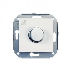 Выключатель поворотный Fontini F37, хром/белый, 37925262