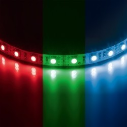 Lightstar  Лента 5050LED 12V 7.2W/m 30LED/m 10-12lm/LED IP20 RGB 200m/box ЦВЕТНАЯ, 400040