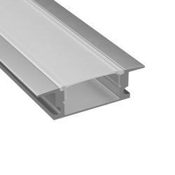 Lightstar Профиль с прямоугольным рассеивателем для светодиодной ленты, материал: алюминий, 1шт=3м, 409309