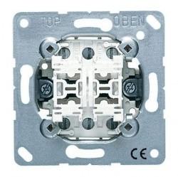 Механизм выключателя 2-клавишного кнопочного Jung Коллекции JUNG, скрытый монтаж, 535U