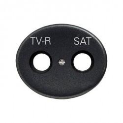 Накладка на розетку телевизионную ABB TACTO, антрацит, 5550.1 AN