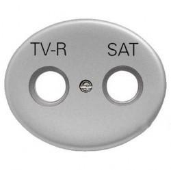 Накладка на розетку телевизионную ABB TACTO, серебристый, 5550.1 PL