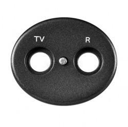 Накладка на розетку телевизионную ABB TACTO, антрацит, 5550 AN