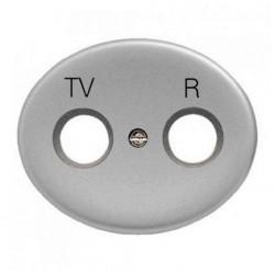 Накладка на розетку телевизионную ABB TACTO, серебристый, 5550 PL