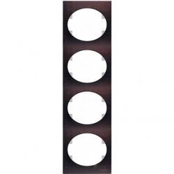 Рамка 4 поста ABB TACTO, вертикальная, венге, 5574 WG