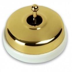 Выключатель тумблерный Fontini DIMBLER, золотой, 60306502