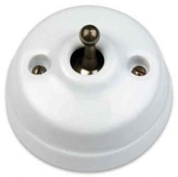 Выключатель тумблерный Fontini DIMBLER, белый, 60306652