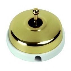 Переключатель тумблерный Fontini DIMBLER, золотой, 60308502