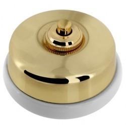 Кнопка нажимная Fontini DIMBLER, золотой, 60310552
